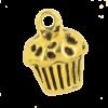 Breloque cupcake 13mm dor
