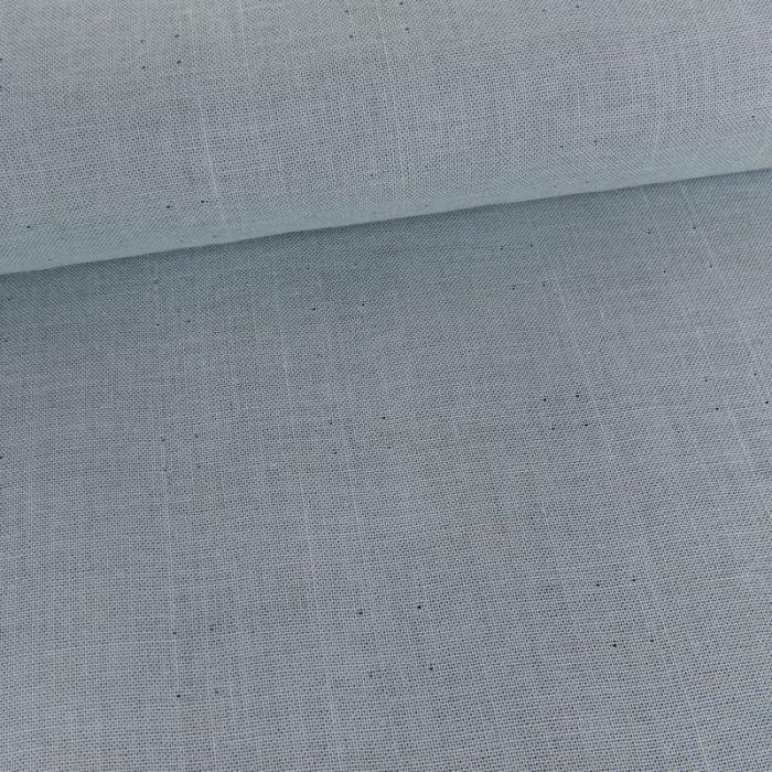 Tissu double gaze reversible - bleu clair x 10 cm