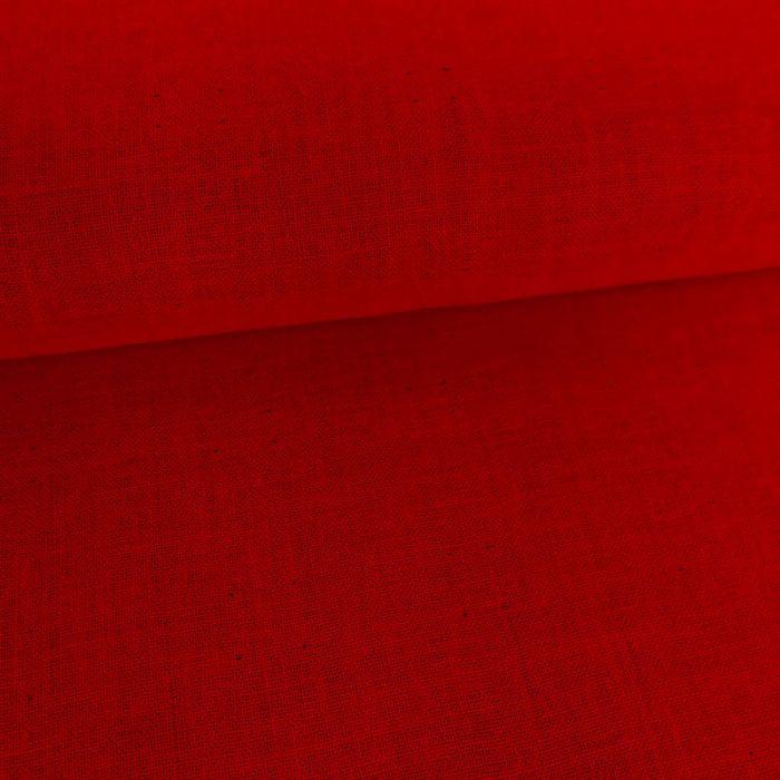 Tissu double gaze réversible - rouge x 10 cm