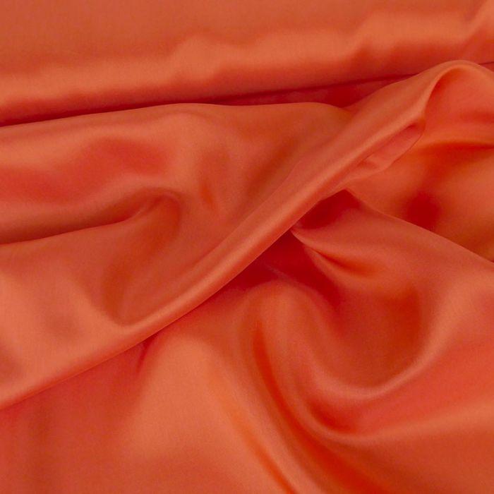 Tissu doublure viscose - corail x 10 cm