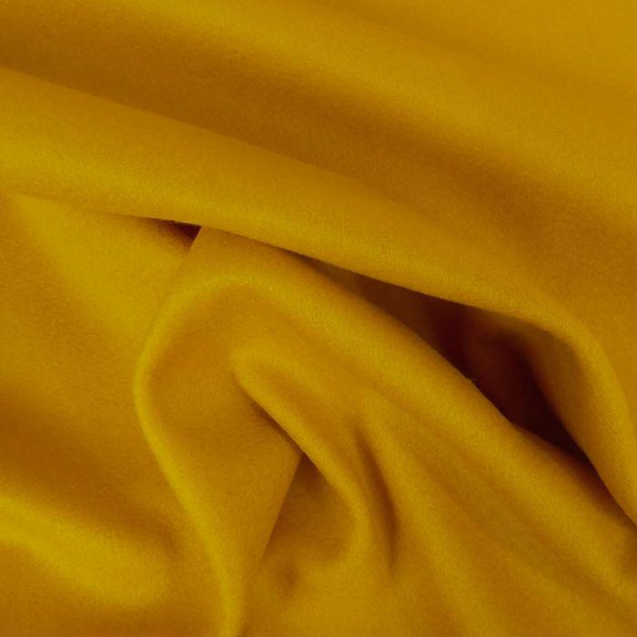 Tissu drap laine cachemire - jaune x 10 cm