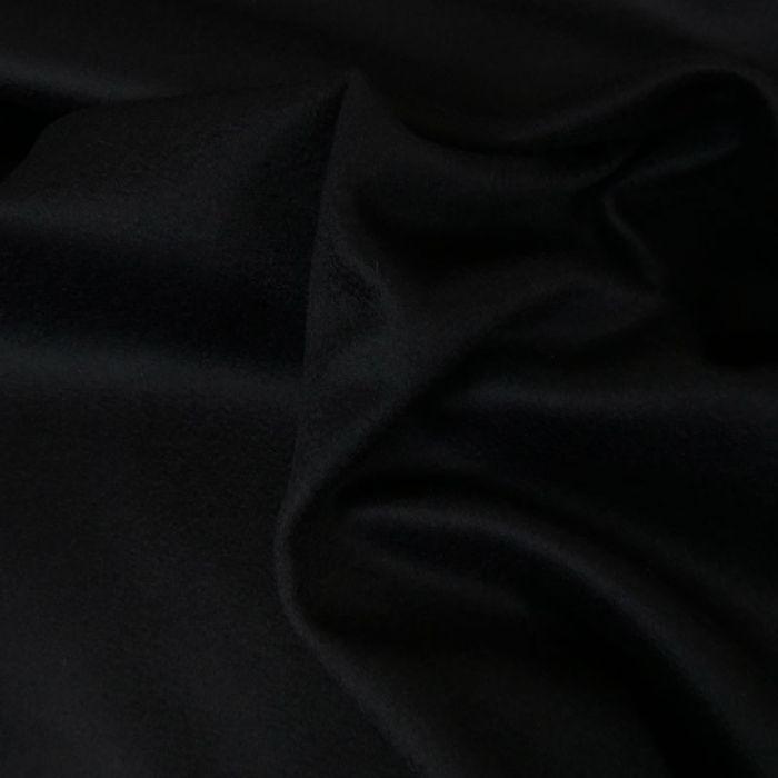 Tissu drap laine cachemire - marine x 10 cm