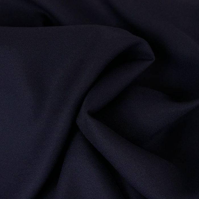 Tissu Crêpe viscose haute couture - bleu marine x 10 cm
