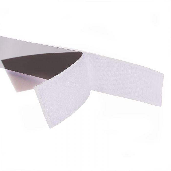 Scratch type Velcro adhésif - Blanc x 10 cm