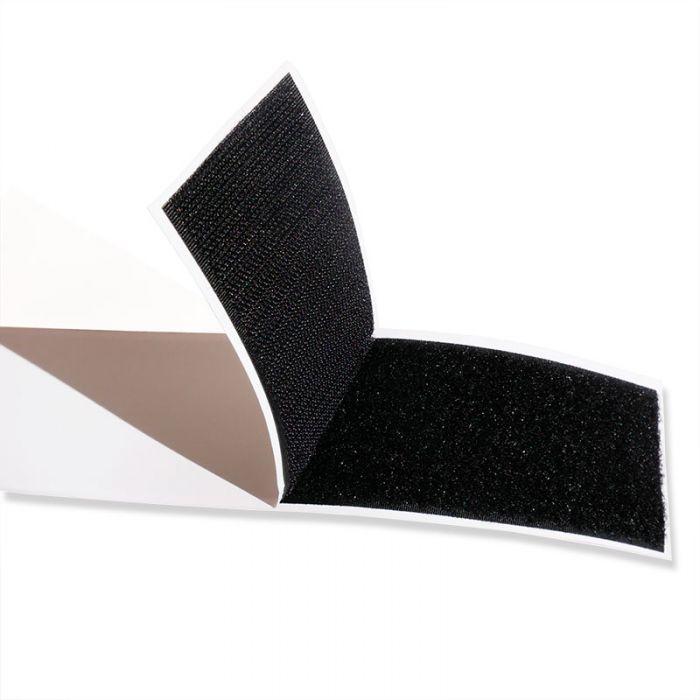Scratch type Velcro adhésif - noir x 10 cm