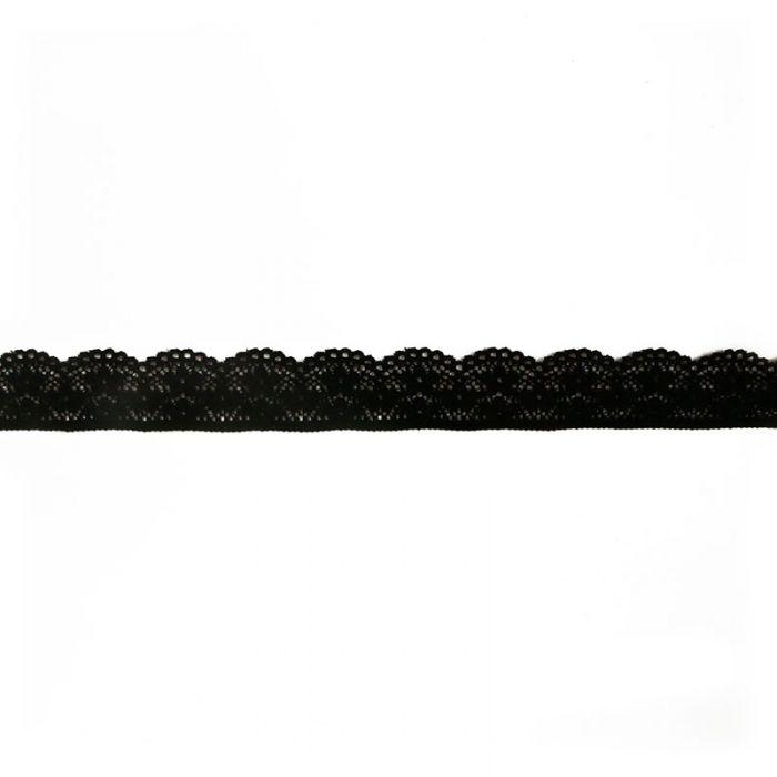 Ruban dentelle élastique 25 mm x 10 cm