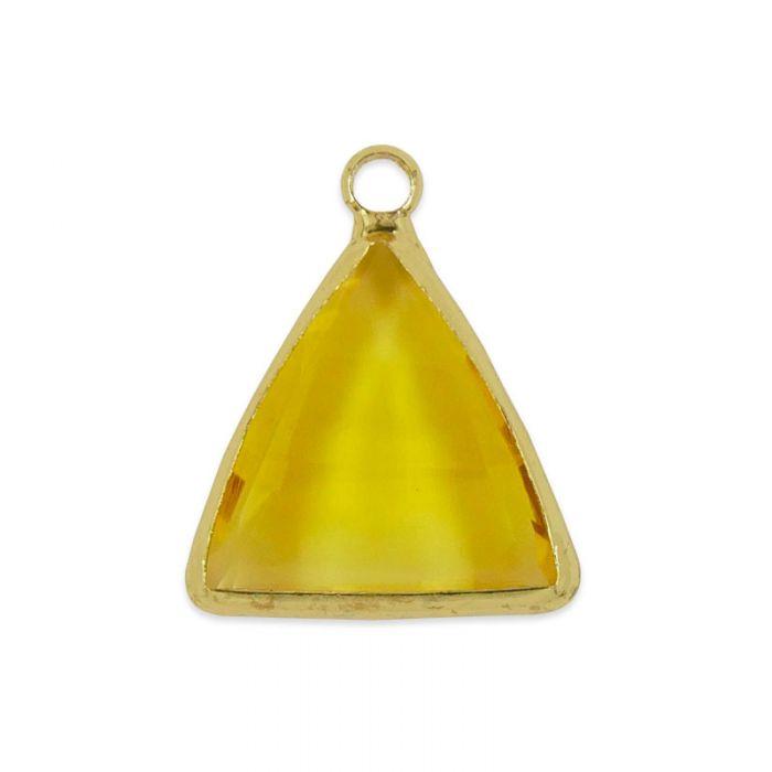Pendentif triangle en verre facetté 20 mm x 1