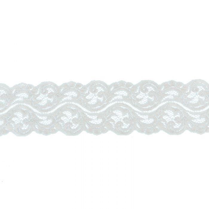 Ruban dentelle élastique 75 mm x 10 cm