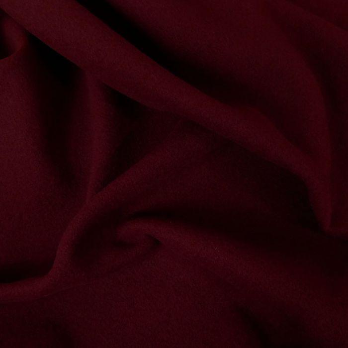 Tissu lainage uni - bordeaux x 10 cm