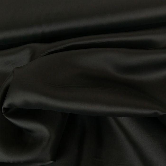 Tissu doublure viscose - Gris foncé x 10 cm