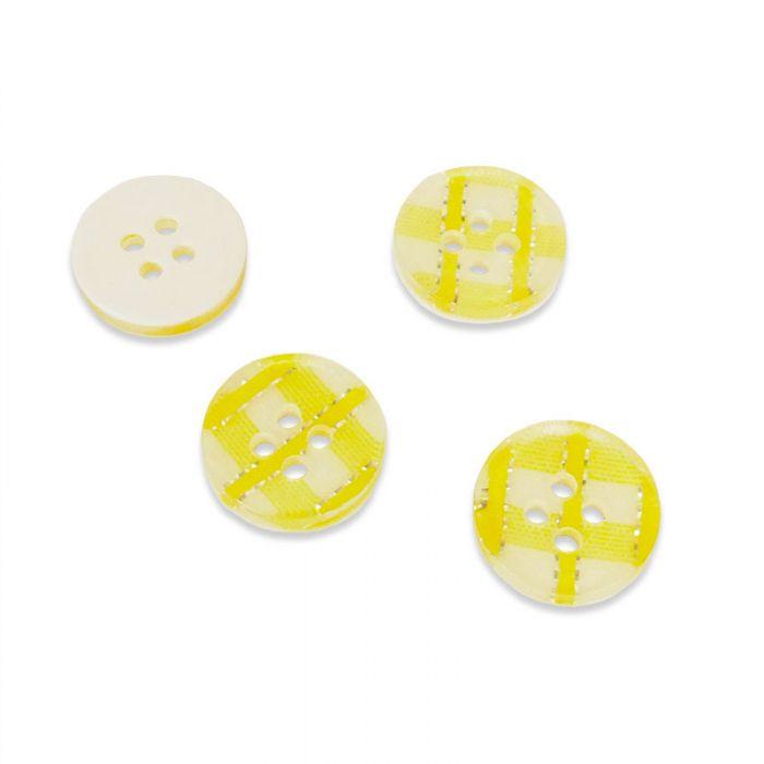 Bouton en résine motif vichy brillant 13 mm x 1