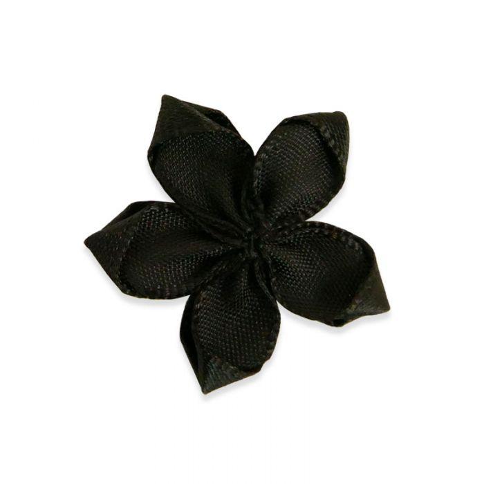 Etoile en satin 29 mm - noir x 10