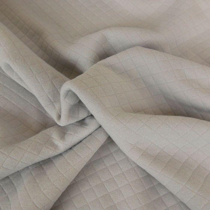 Jersey matelassé - gris x 10 cm