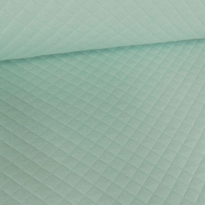 Jersey matelassé - Mint foncé x 10 cm