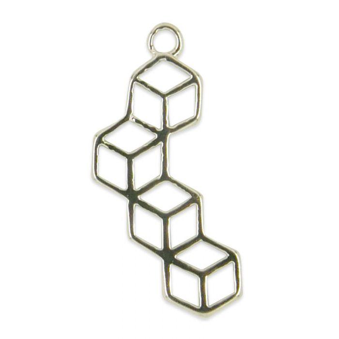 Pendentif géométrique cubes x1