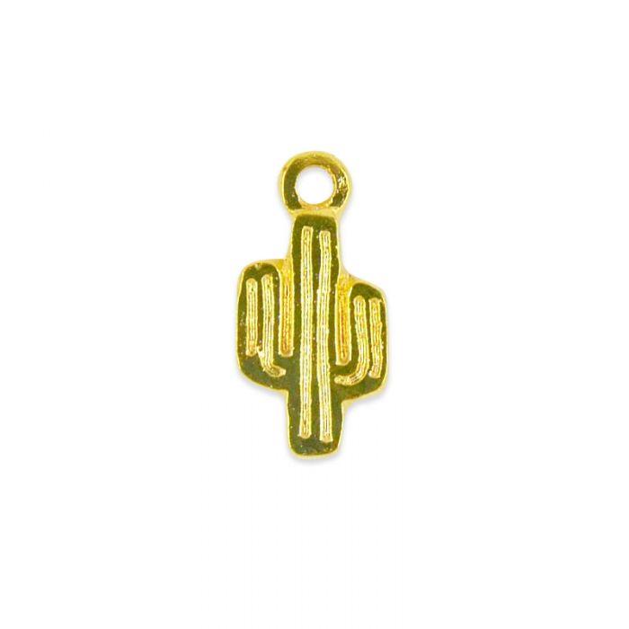 Breloque cactus en acier x1