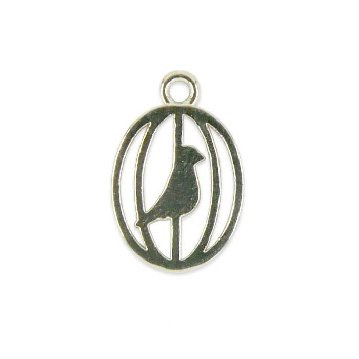 Breloque cage à oiseau en acier x1