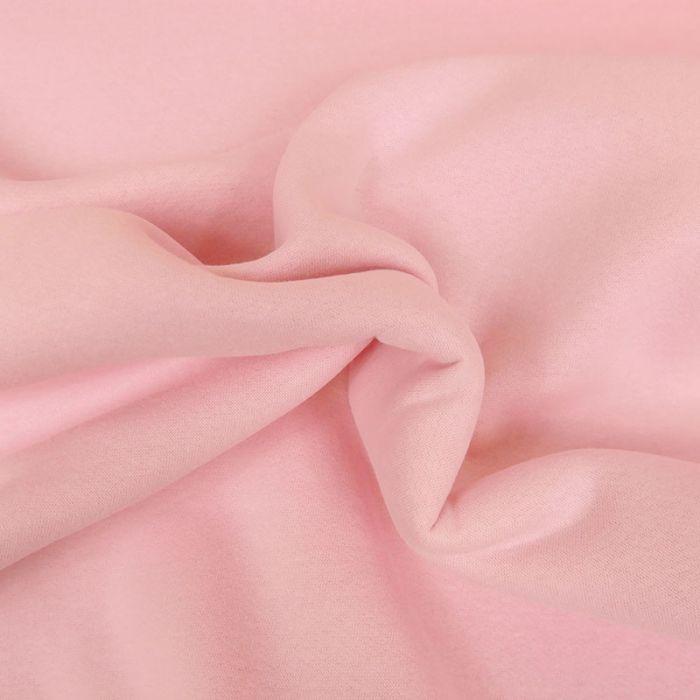 Tissu molleton sweat - rose x 10 cm