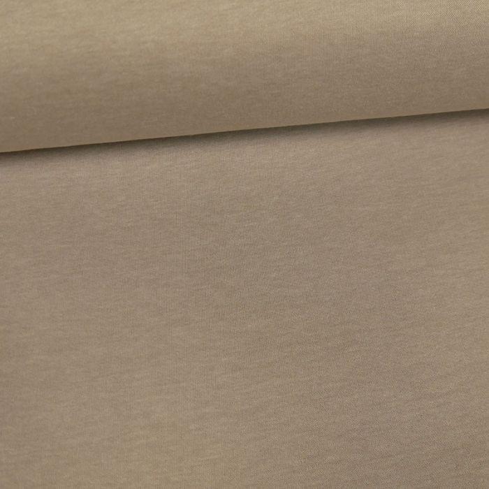Tissu molleton sweat - beige x 10 cm