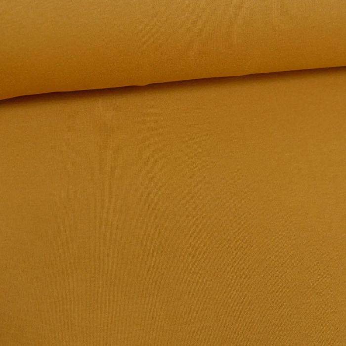 Tissu molleton sweat - ocre x 10 cm