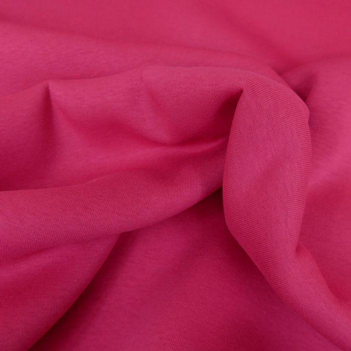 Tissu molleton sweat - rose fuchsia x 10 cm