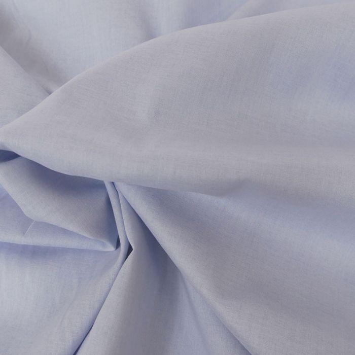 Tissu voile de coton uni - bleu x 10 cm