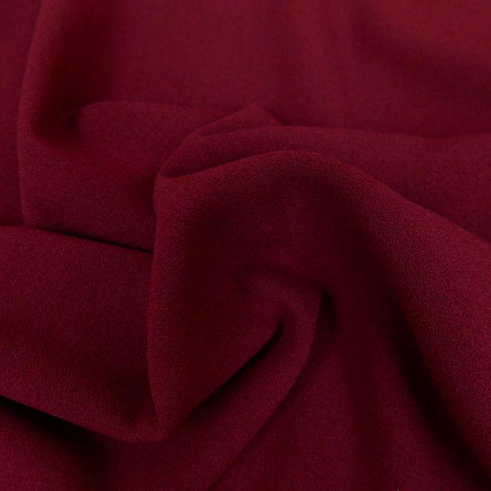 Tissu crêpe stretch - bordeaux x 10 cm