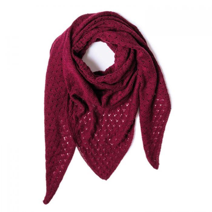 Kit tricot châle femme en point ajouté - Rico Luxury Lace