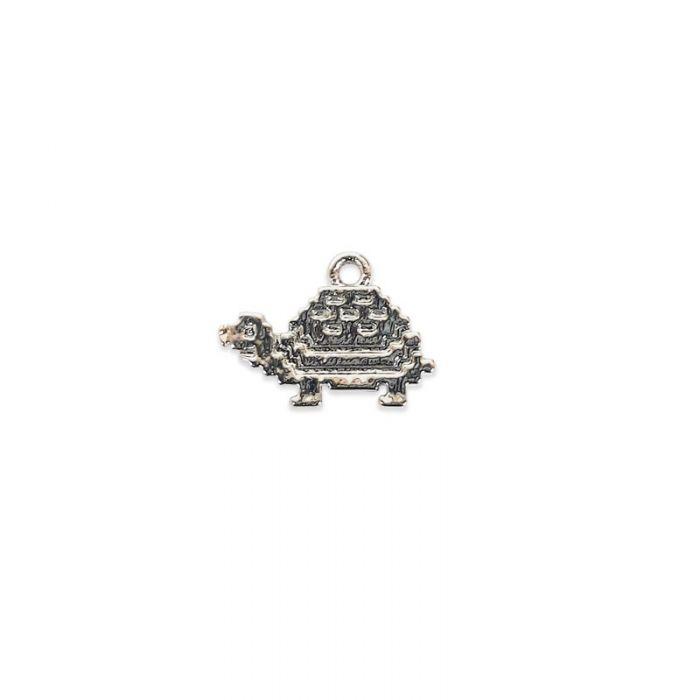 Breloque tortue en acier x1