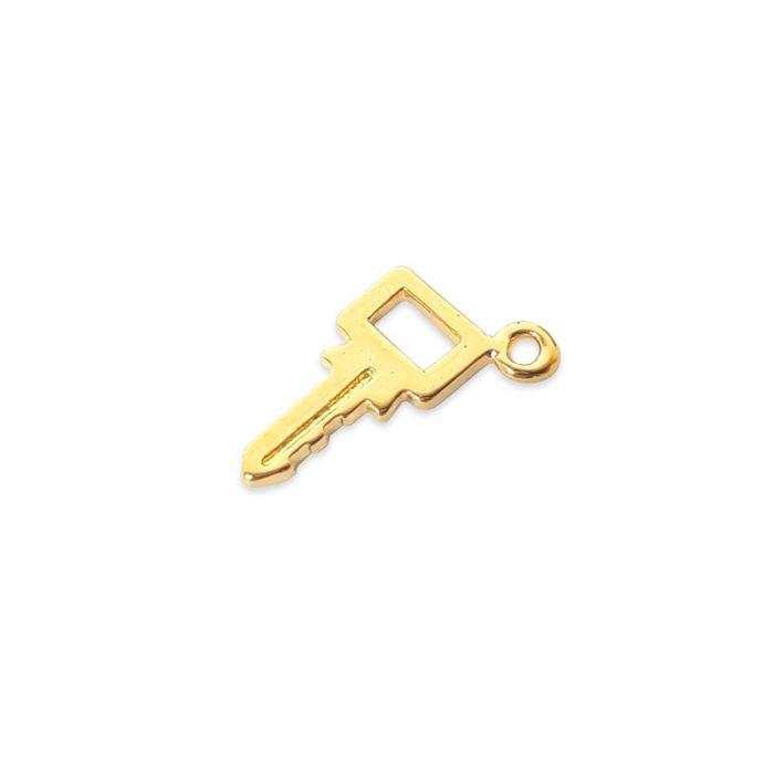 Breloque clé en acier x1