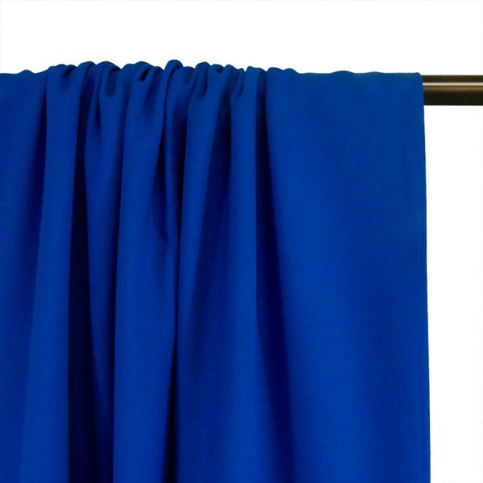 Tissu Crêpe viscose haute couture - bleu roi x 10 cm
