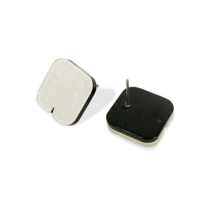 Supports boucles d'oreilles pics en résine x 2