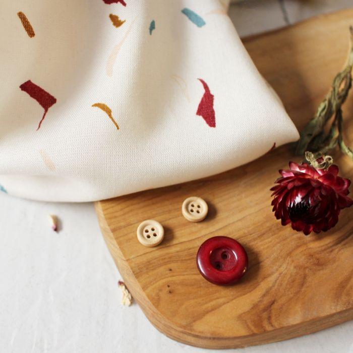 Tissu viscose Tabby shell - Atelier Brunette x 10 cm