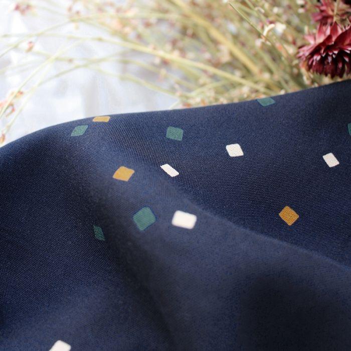 Tissu viscose shine night - Atelier Brunette x 10 cm