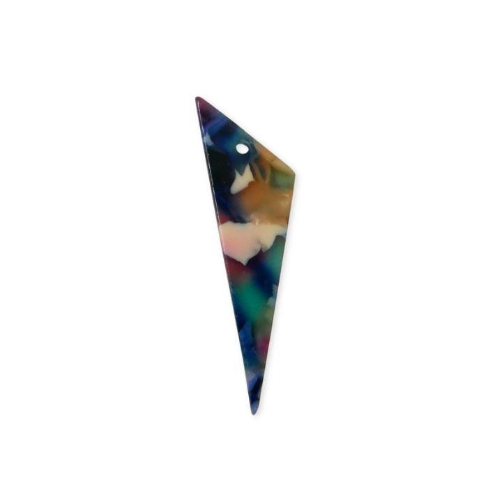 Pendentif triangulaire en résine x1