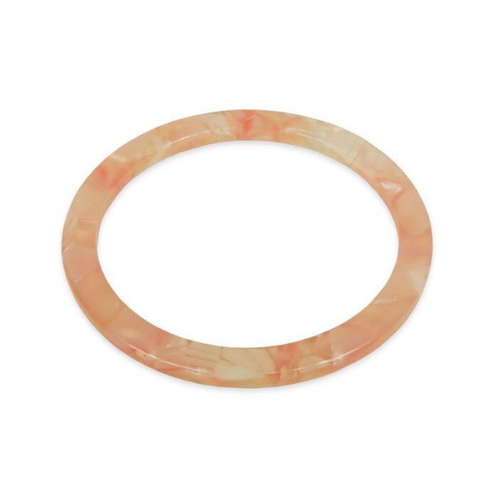 Pendentif cercle en résine x1