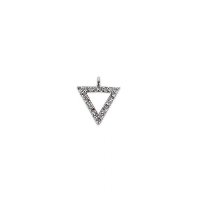 Pendentif serti triangle évidé x1