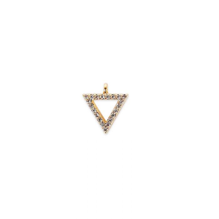 Pendentif serti triangle x1