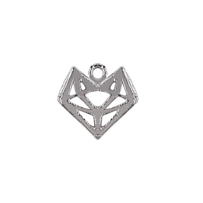 Breloque renard origami en acier x1