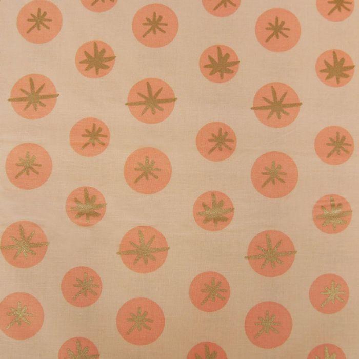 Tissu coton étoiles - rose x 10 cm