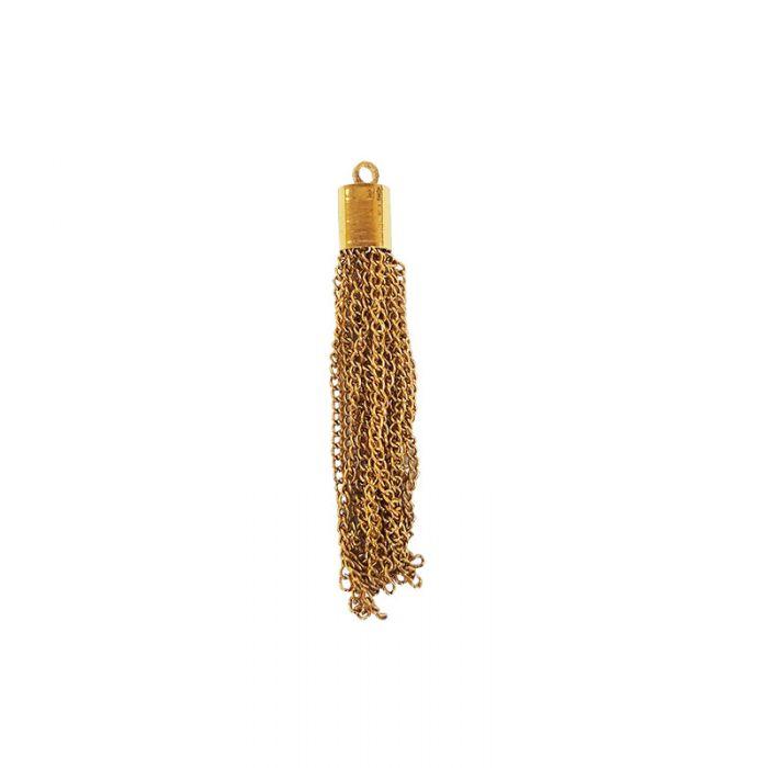 Pendentif pompon chaîne 5 cm x1