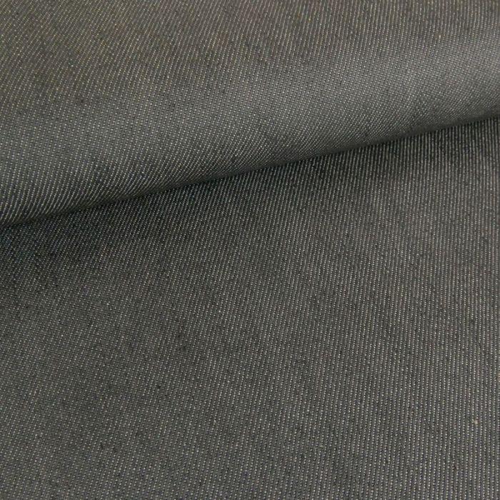 Tissu denim élasthanne - gris x 10 cm