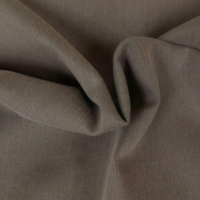 Tissu denim élasthanne - taupe x 10 cm