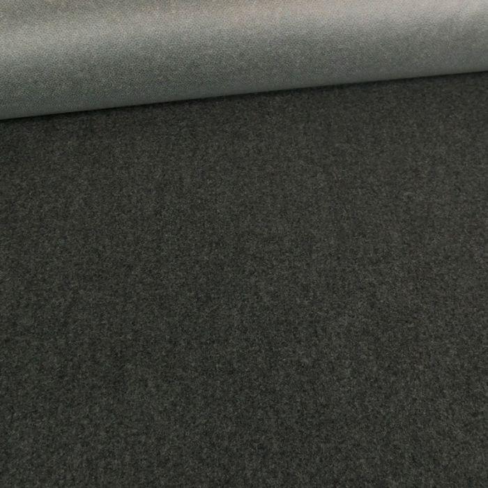 Tissu lainage fin - gris foncé x 10 cm