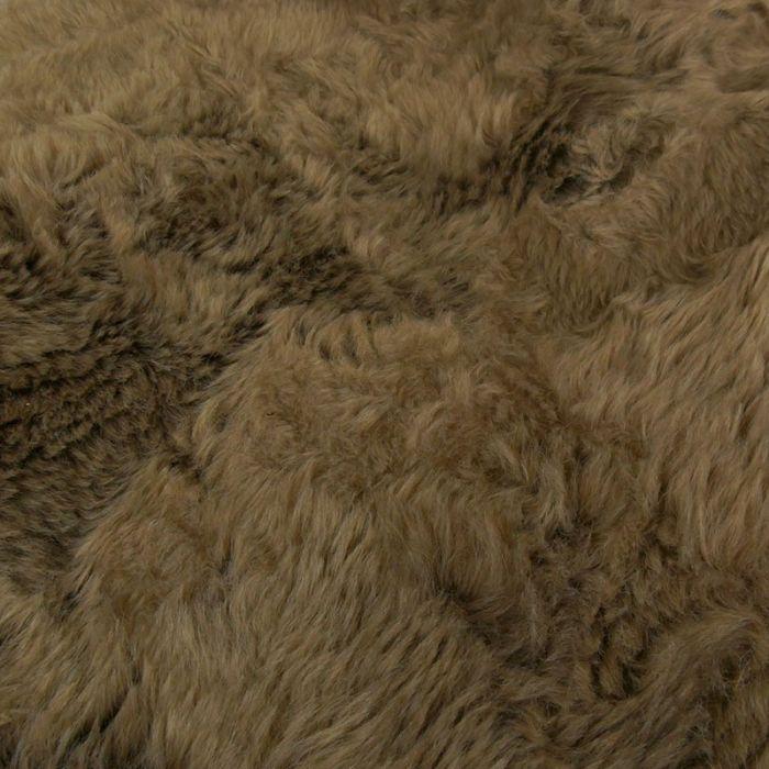 Tissu fausse fourrure - marron x 10 cm