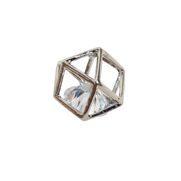 Pendentif géométrique - strass - 13 mm x 1