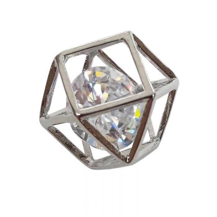 Pendentif géométrique - strass - 15 mm x 1
