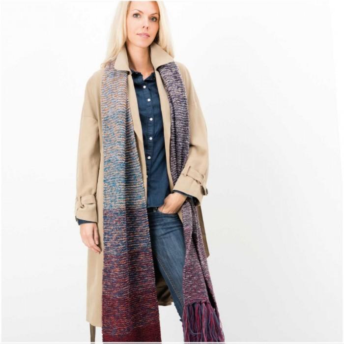 beau prix handicaps structurels Kit tricot Grande écharpe dégradée - Rico design - Mercerie Atelier de la  création