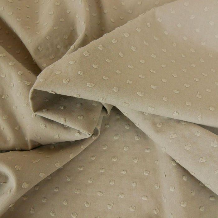 Tissu coton plumetis - sable x 10 cm