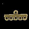 Pendentif 5 accroches 29mm bronze